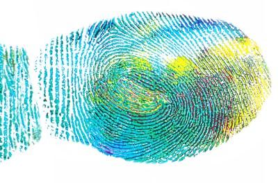 fingerprint, expression, creative skills